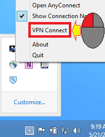 Left click on VPN Connect